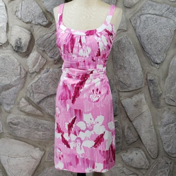Calvin Klein Dresses & Skirts - Calvin Klein Pink Watercolor Print Dress